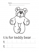 Bear Printable Worksheets
