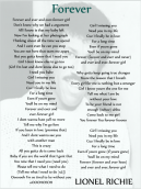 Lionel Richie Forever Printable Music