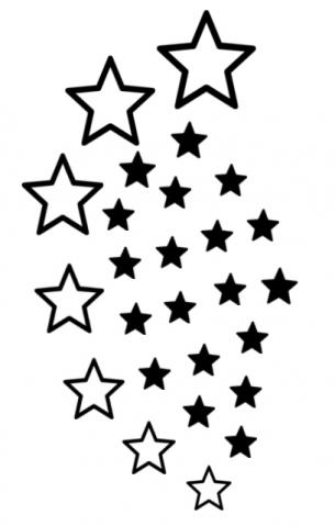 printable star tattoos. Black Bedroom Furniture Sets. Home Design Ideas