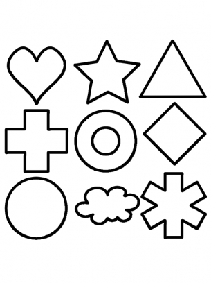 image about Free Printable Shapes Templates called Condition Package deal pursuits Template