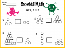 Snow Ball Math Lesson Worksheets