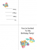 Bee Invitation Template