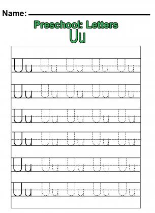 Number Names Worksheets » Letter U Worksheets For Pre-k - Free ...