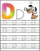 Letter D Kindergarten Worksheet