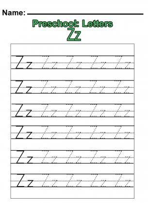 Number Names Worksheets : a to z alphabet tracing worksheets ...
