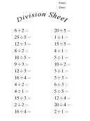More Division Worksheets