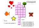 Worksheets Kindergarten Children Crossword