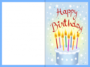 Printable Black And White Birthday Card