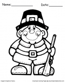 Thanksgiving Coloring Sheets with Pilgrim