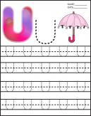 Letter U Alphabet Worksheet