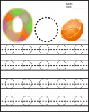 Alphabet Uppercase Letter O Worksheets