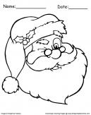 Winking Santa Coloring Page