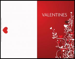 Floral Swirl Valentines card
