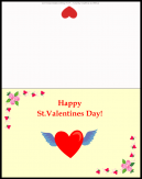 Happy St Valentine's Day Card