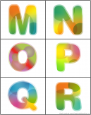 Alphabet Uppercase Flash Cards Letters M-R