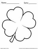 Clover Leaf Coloring Sheet