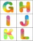 Alphabet Uppercase Flash Cards Letters G-H