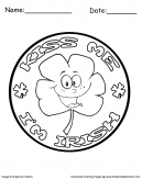 Kiss Me I Am Irish Coloring page