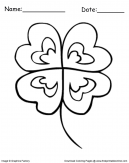 Irish Clover Coloring page