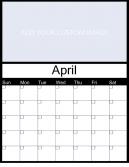 Customize April 2015 Calendar