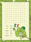 Fun Word Search Puzzle for St Patricks Day