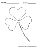 Irish Shamrock Coloring Sheet