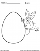 Bunny And Easter Egg Coloring page