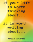 Is Your Life Worth Writing About?