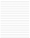 Printable Learn To Write Lined Paper