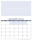 Customize August 2015 Calendar