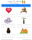 Learn To Write - Words That Start With H