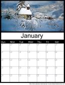 January 2016 Printable Monthly Calendar