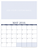 Personalized May 2016 Calendar