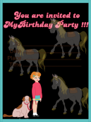 Galloping Good Time Birthday Invitation