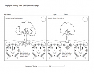 Learn Daylight Savings Time Worksheet