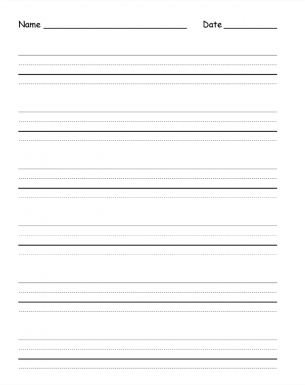 Dotted and Straight Lined Paper