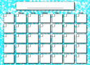 Baby Blue Dotted Blank Calendars