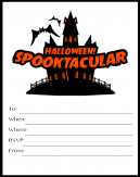 Halloween Spooktacular Invitations