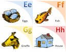 Illustrated Flash Cards Learning E - H