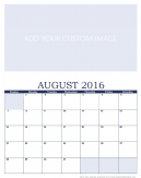 Personalized August 2016 Calendar