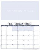 Personalized October 2016 Calendar
