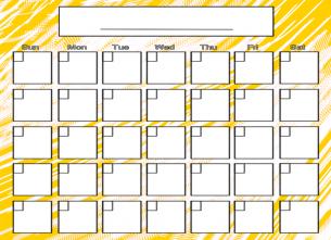 Blank Calendar Design – hoguma