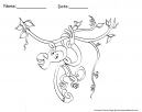 Monkey Coloring Pages Sheets