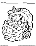 Christmas Father Santa Coloring Pages