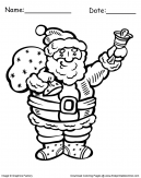 Santa Bells Christmas Coloring Pages