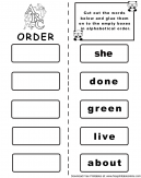 Alphabet Order Worksheet Set 2