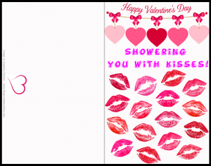 Shower with Kisses Valentines Card