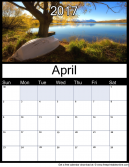 New April 2017 Printable Monthly Calendar