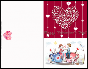 Boy And Girl Valentines Day Card