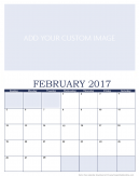 Newly Personalized February 2017 Calendar